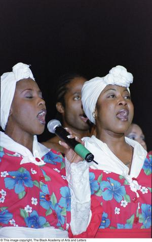 Primary view of object titled '[Singers performing at the Ashe Caribbean event]'.
