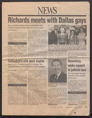 Primary view of object titled '[The Dallas Voice, January 17. 1992]'.