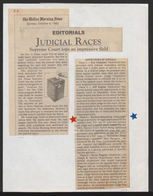 Primary view of object titled '[Clipping: Supreme Court tops an impressive field]'.