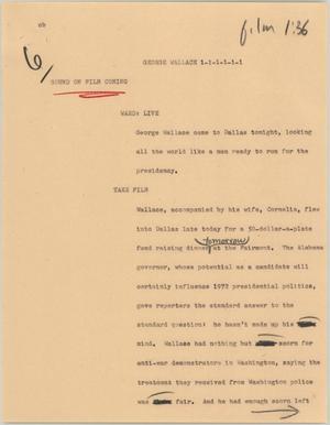 News Script: George Wallace, NBC News Scripts