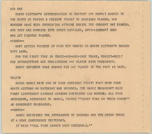 Primary view of object titled '[News Script: Air war]'.