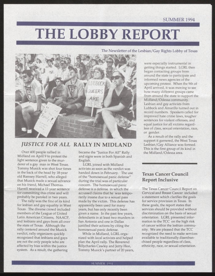 justice for all rally in midland 1994