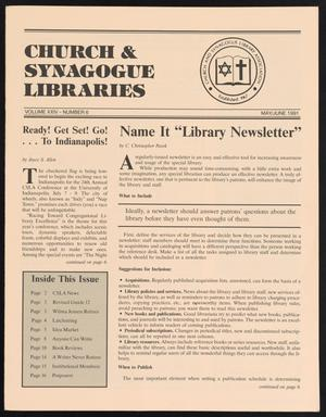 Primary view of object titled 'Church & Synagogue Libraries, Volume 24, Number 6, May-June 1991'.