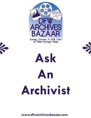"Primary view of object titled '[""Ask An Archivist"" poster]'."