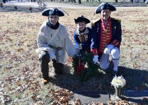 The Copes and a compatriot at Emerald Hills Memorial Park