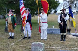 Primary view of object titled '[Color Guard at Glenfawn Cemetery]'.