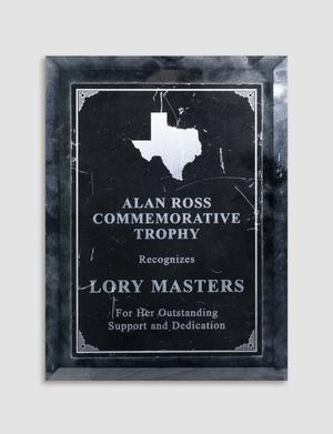 Primary view of [Trophy awarded to Lory Masters]