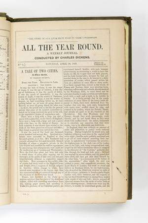 """Página blanca descolorida. Se titula """"Todo el año"""" en la parte superior en letras más grandes. Hay dos columnas de párrafos. Los párrafos están enmarcados  por líneas finas."""