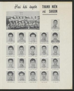 White page with a title at the top. Under it is a photo of 2 rows of men. Under that are 4 rows of 5 men.