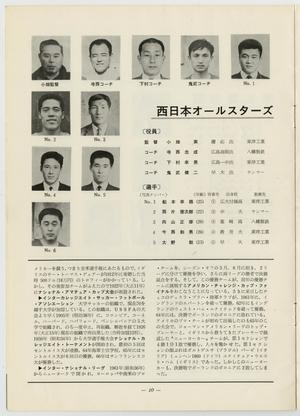 The top of the page has 10 small pictures of men, next to it on the right the title is in bold. The bottom of the page is seperated by a black line, two columns of text under it.