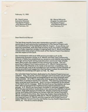 A white page with a letter consisting of three columns of text. The left side margin has 3 hole punches.