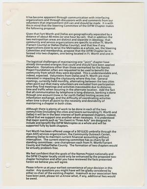 A white page filled with black text consisting of seven paragraphs. The left side margin has three hole punches.