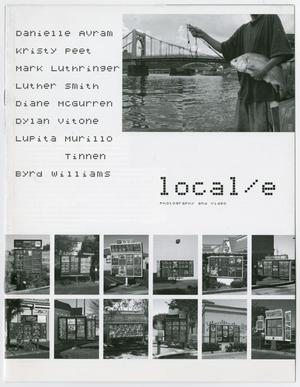White catalog page. The top right corner is a photo of a man holding a fish. The bottom of it are 12 photos in two rows. The top left has a list of names and under the top photo is the title in lowercase letters.