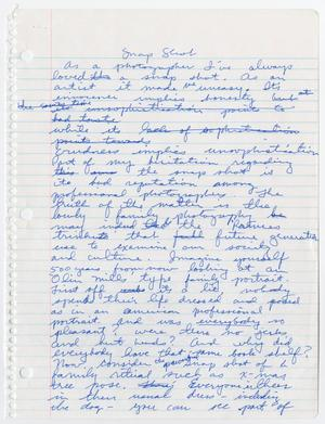 Notebook paper filled with cursive handwriting in blue ink, with title at top.