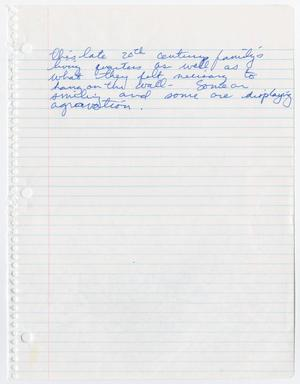 Notebook paper with blue ink handwriting in the first few lines.