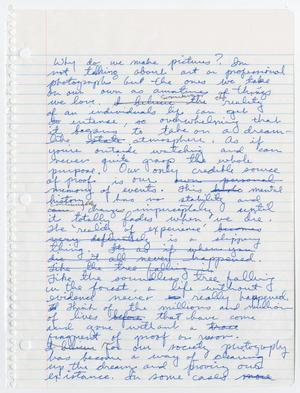 Notebook paper filled with cursive handwriting in blue ink.