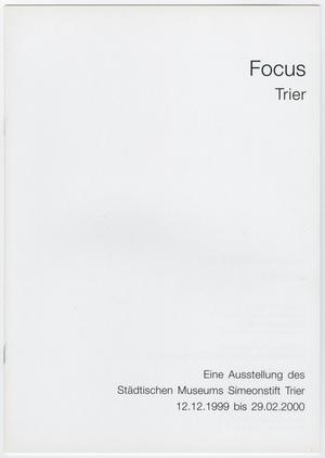White page, the title Focus Trier on the top right. The bottom right corner contains more text.