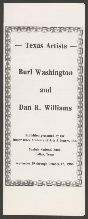Program: Texas Artists, Texas Artists, Folder 35: Texas Artists, 1986