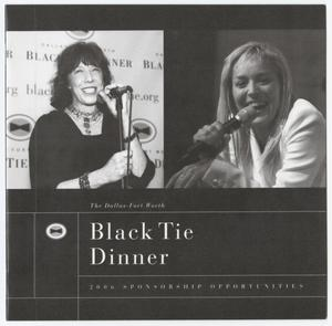 Primary view of object titled 'Black Tie Dinner 2006 Sponsorship Opportunities'.