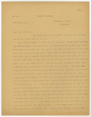 A page, manila in color, with a letter printed on it in faded black text. Title and date are at the top of the page.