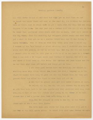 A page, manila in color, with a letter printed on it in faded black text. Title is at the top of the page.