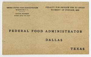 A pledge card, the title of it at the bottom half in bold black letters. The word Texas is in the bottom right corner.