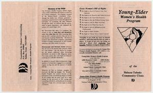 A brochure with four panels, the one farthest on the right is the cover page with an upside down triangle in the middle.