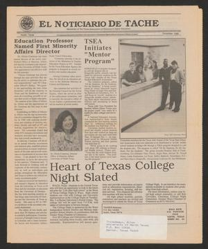 A newspaper page, the newspaper name at the top, the article title under it on the left. Under that are two columns of text.