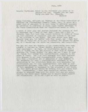 A white page with the date at the top right corner, the rest of the page consisting of three paragraphs of text.