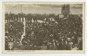 Primary view of object titled '[Military Field Mass at the K. of C.]'.