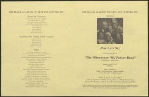 Primary view of Program: The Whosoever Will Prayer Band]