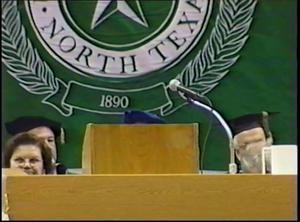 Fall Commencement 2000 December 16, 2000, University of North Texas; Fall Commencement 2000 December 16, 2000