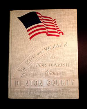 White and textured book cover. At the top is a US flag with no stars on it. Below it, slanted, are the words The Men and Women. The rest of the title is below it.