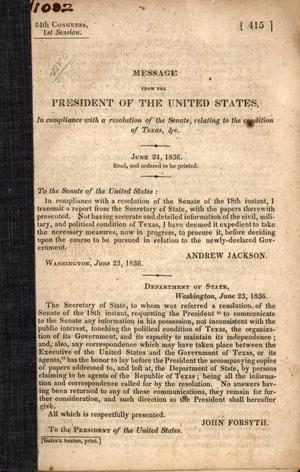 Old page filled with black text. It says President Of The United States at the top.