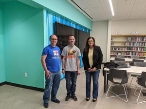Primary view of [Luke Alvey-Henderson, Eric Larsen, and Theresa Mayfield]
