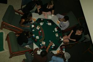 Primary view of [Game table set-up at UNT Casino Night]