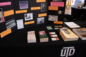 Primary view of [Poster board presentation from the Eugene McDermott Library, 2]