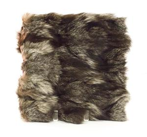 Fuzzy book, made to look like wolf fur.