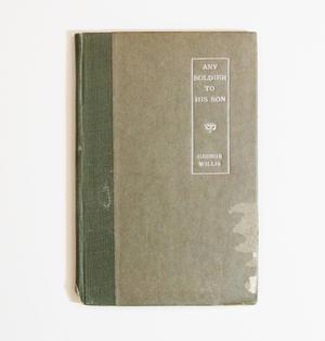 Grey/green book cover with a dark green spine. The title is on the right side inside a long rectangle.