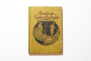 A yellow book, the title at the top and an illustration of soldiers around a fire under it.