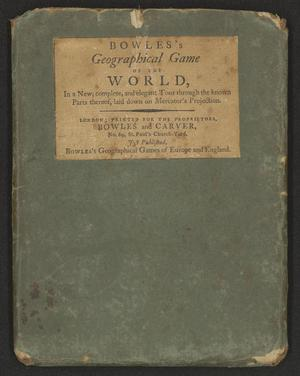 Primary view of [Bowles's Geographical Game of the World]