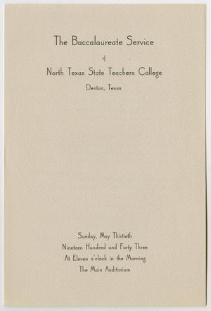 Primary view of object titled '[Commencement Program for North Texas State Teachers College, May 30, 1943]'.