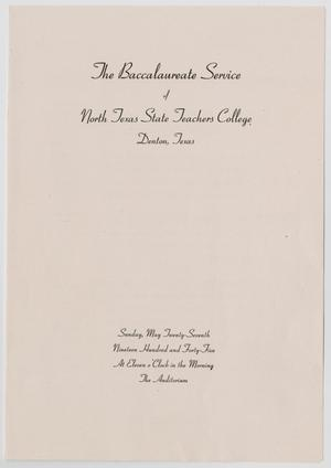 Primary view of object titled '[Commencement Program for North Texas State Teachers College, May 27, 1945]'.