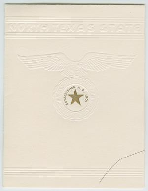 Primary view of object titled '[Commencement Invitation for North Texas State Teachers College, June 1, 1947]'.