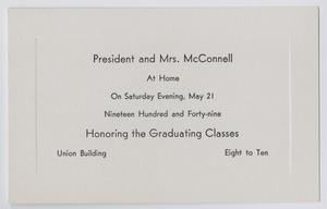 Primary view of object titled '[Commencement Announcement for North Texas State College, May 21, 1949]'.