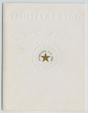 Primary view of object titled '[Commencement Invitation for North Texas State College, August 25, 1949]'.