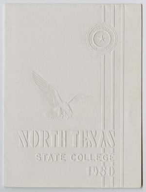 Primary view of object titled '[Commencement Announcement for North Texas State College, August 25,1950]'.