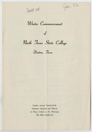 Primary view of object titled '[Commencement Program for North Texas State College, January 29, 1956]'.