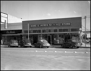 Primary view of object titled '[Duke & Ayers Store, 1943]'.