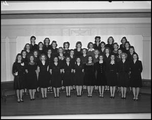 Primary view of object titled '[The 1942 All Female Campus Choir]'.
